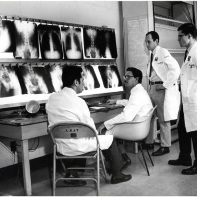 Doctors reviewing a case